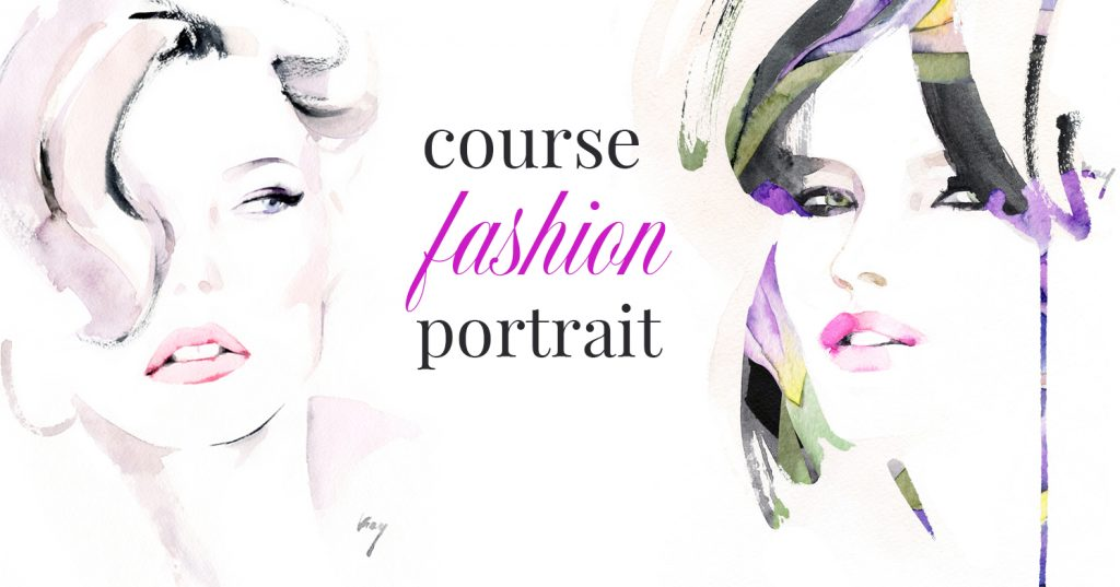Beautiful Watercolor Portraits of Woman